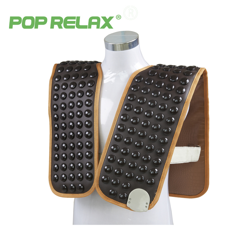 POP RELAX 110  germanium belt tourmaline products health care electric heating shoulder massage stone belt mat back pain relief