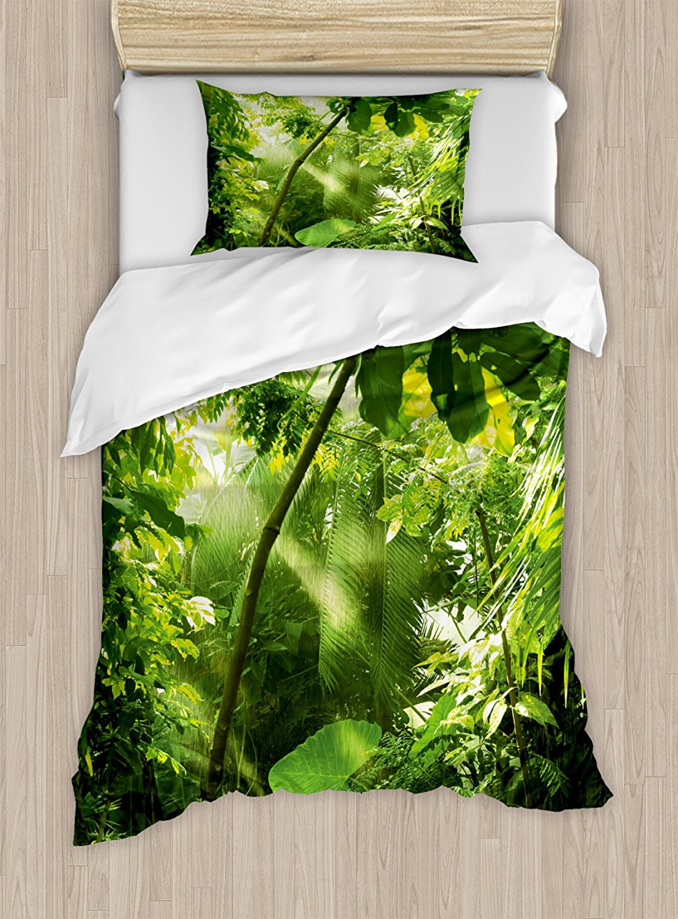 Duvet Cover Set , Rain And Sun At Exotic Tropical Forest