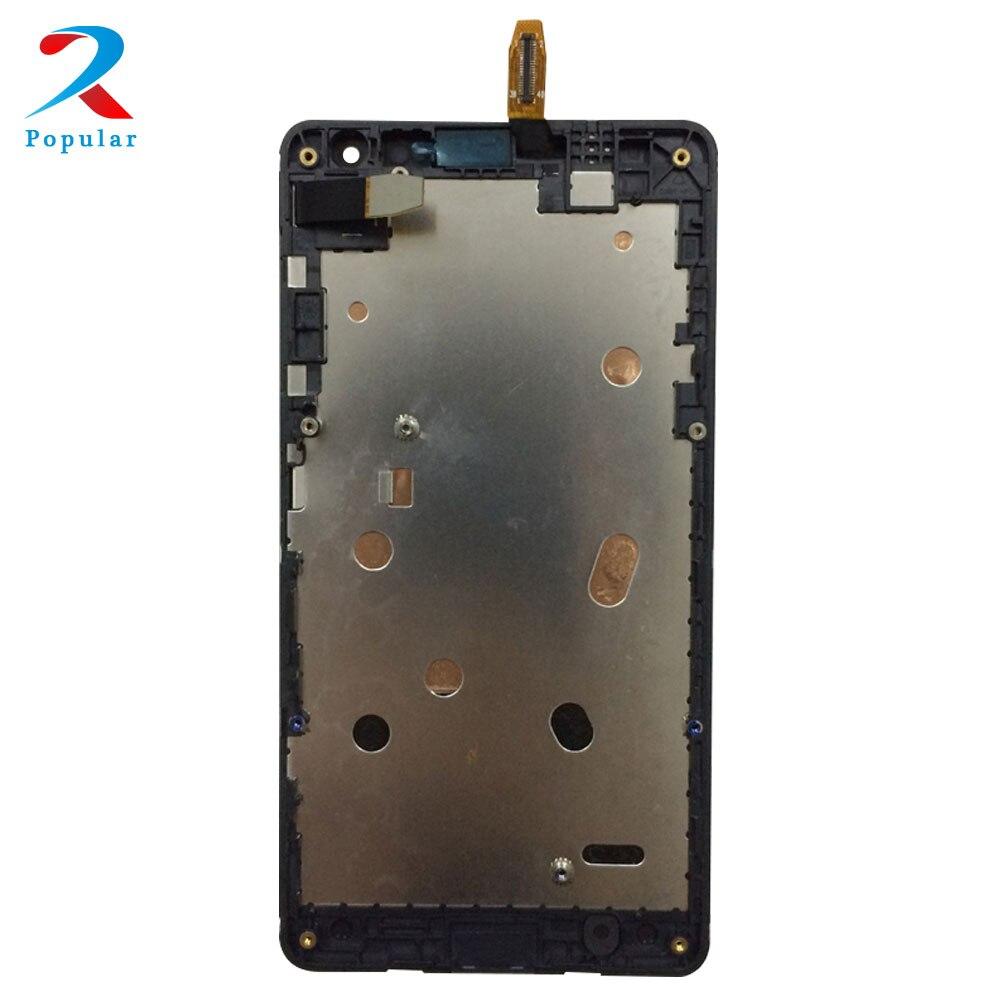 Für Microsoft Nokia Lumia 535 N535 2 s/2C Version Touchscreen Digitizer Sensor Glas + LCD Display Monitor montage + Rahmen