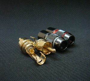 Image 2 - 8x Gold Plated RCA Male Plug Adapter Audio Solder Connector Black 4 Pairs