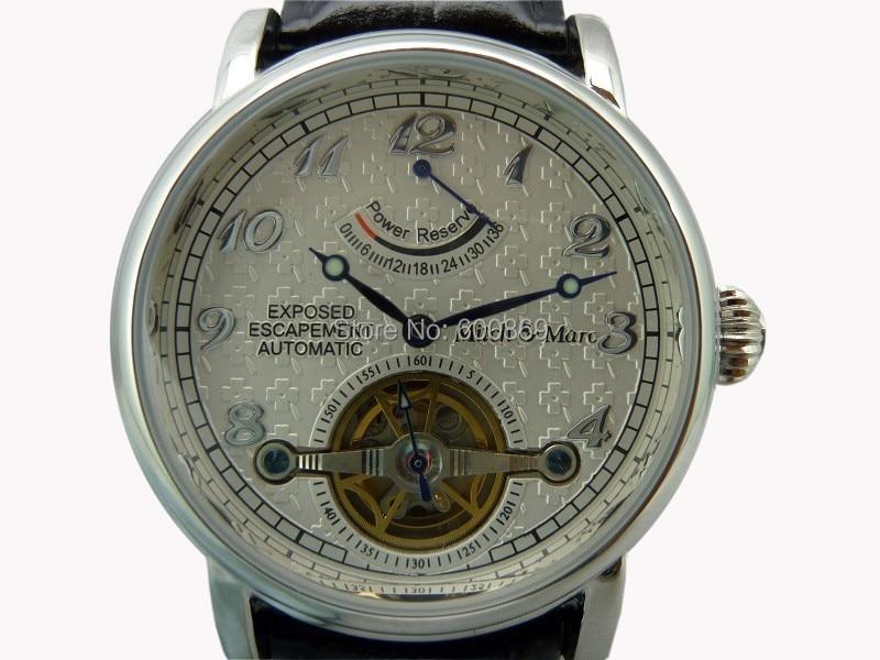 Open Heart Power Reserve Mechanical Watch