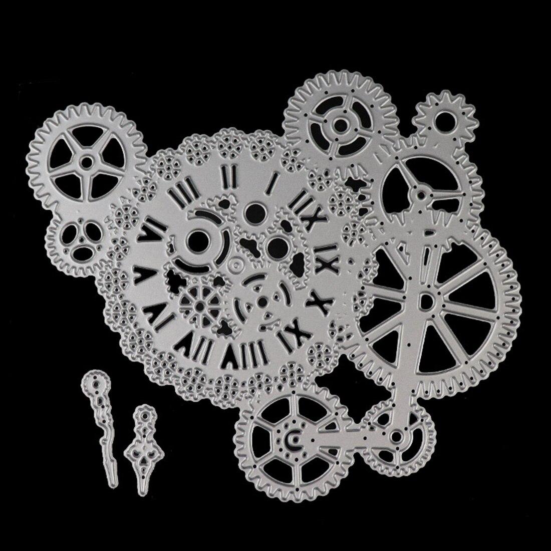 Gear Cutting Dies Frame Background Craft Metal Cutting Cut Scrapbooking Die DIY