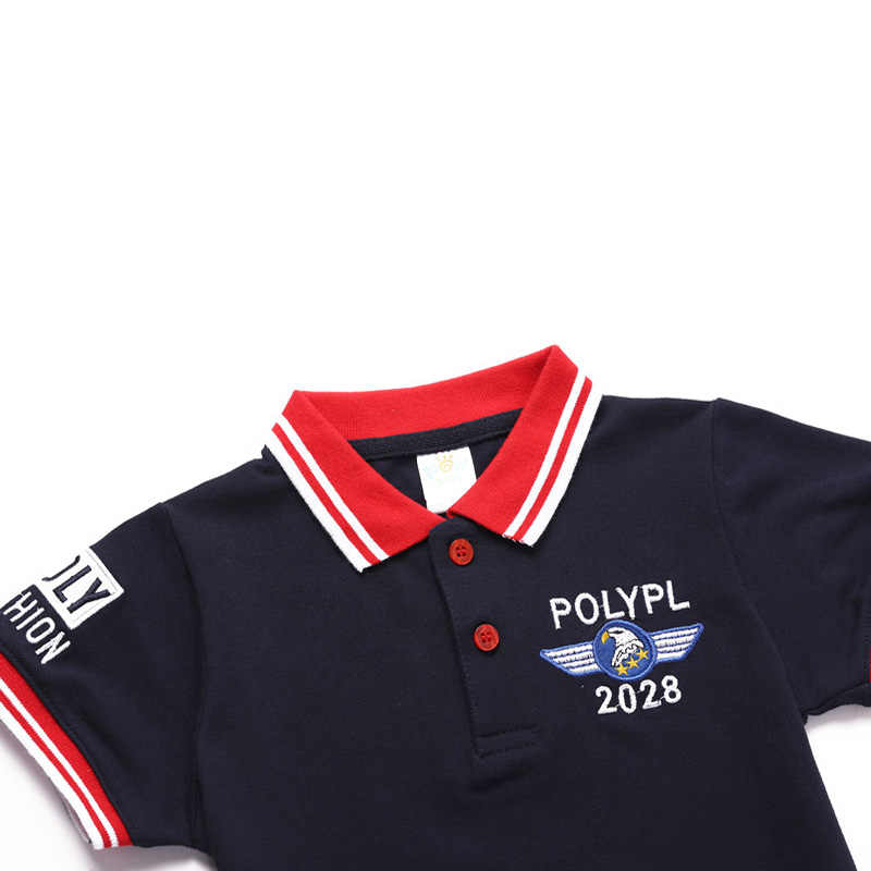 3-7Years Boys Polo Shirt 2018 Summer Embroidery Pattern Boys Tops Tees Kids Short Sleeve Cotton Polo Shirts Children Clothing
