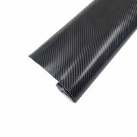 Car Styling 152x200cm 4D Carbon Fiber Vinyl Film Wrapping Sheet Roll Stickers Motorcyle For Automobiles Hood