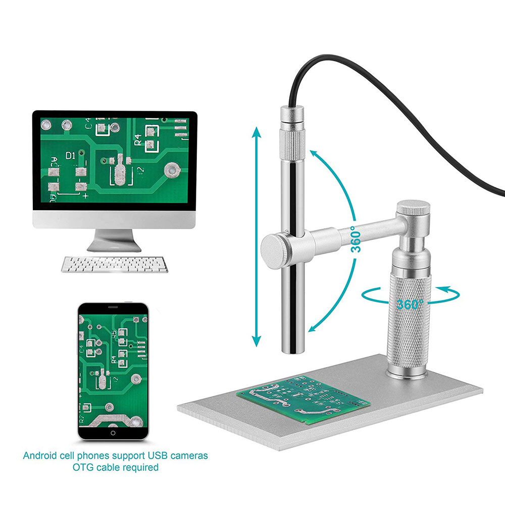 2MP 500X 8 Leds Digital Microscope Stereo Electronic Microscope USB Endoscope Camera Microscopio for PCB Repair Oral Cavity Test2MP 500X 8 Leds Digital Microscope Stereo Electronic Microscope USB Endoscope Camera Microscopio for PCB Repair Oral Cavity Test