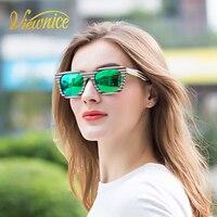 Viewnice 2018 Nouveau Bois Naturel lunettes de Soleil Classique coloré Lunettes de Soleil Hommes Femmes Polarisées TAC lentille Miroir anti-réfléchissant 902