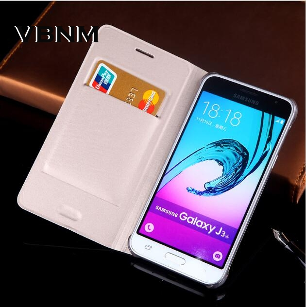 Galleria fotografica Luxury Leather Case For galaxy j320 j320F J320 J320H case Phone Coque fundas Wallet flip cover For Samsung galaxy j3 2016