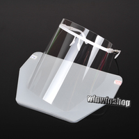 1 White Boder And10 Shield Dental Adjustable Detachable Full Face Shield