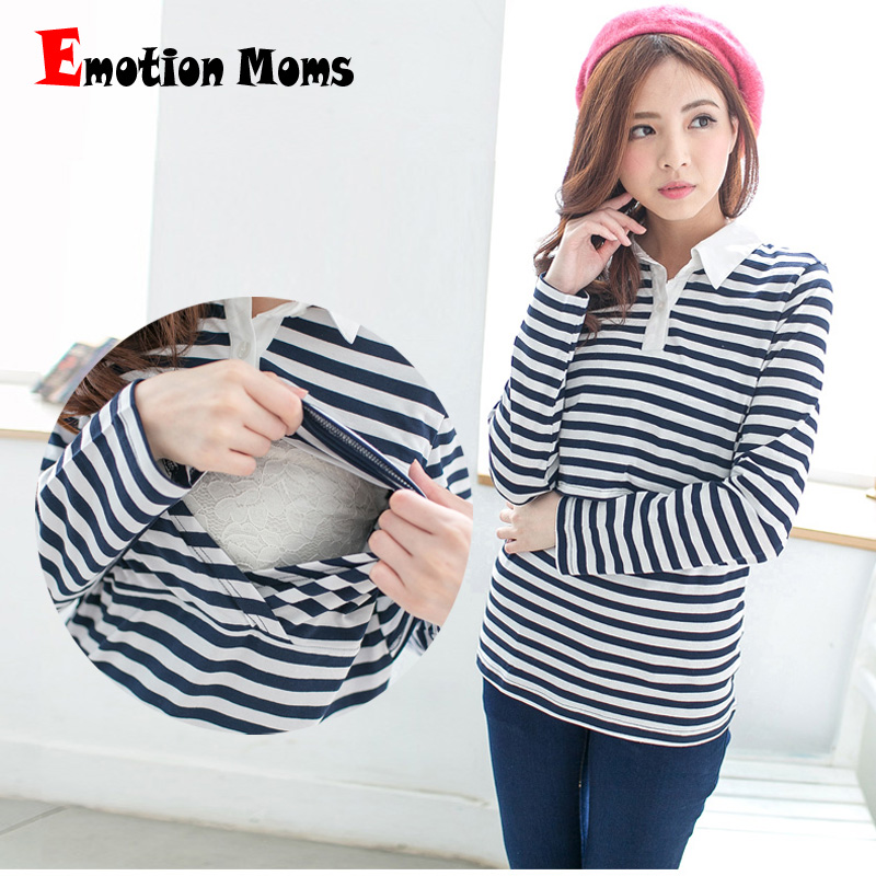 Emotion Moms Cotton Maternity Clothes Maternity T shirt nursing clothes Nursing Tops Breastfeeding Clothes for Pregnant Women in Tees from Mother Kids