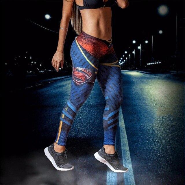 Fitness Leggings Nl: Superman 3D Vrouwen Sport Legging Fitness Leggings Yoga