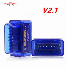 Car Diagnostic Scanner Tool Latest Version Super Mini ELM327 Bluetooth V2.1 OBD2 Mini Elm 327 For ODB2 OBDII Protocols(China)