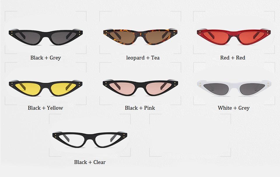 HTB1n5KYdRTH8KJjy0Fiq6ARsXXaZ - Unisex Flat Top Eyeglasses Small Triangle Frame Cat Eye Sunglasses Women UV400 2018 Fashion Color Ocean Film Sun Glasses Cool
