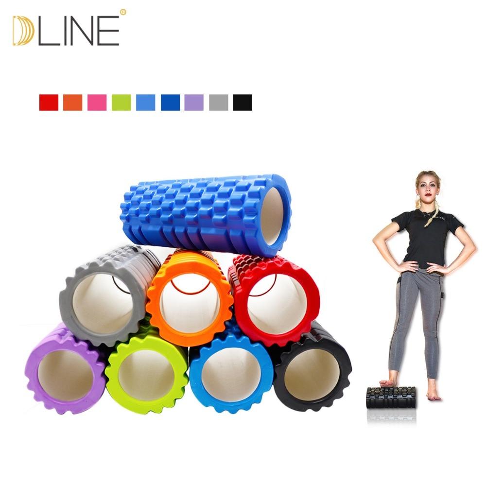 Yoga fitness exercices à la maison gym pilates EVA Creux Rouleau En Mousse De Yoga Blocs Mousseux Colonne Solde Bâton Pilates Yoga Colonne