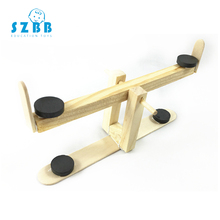 SZ STEAM Model Toy Diy Simulation creative seesaw Developing Intellectual STEM Wood Physics Experiments Science toy SZ3289