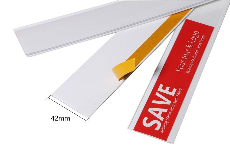 Ev ve Bahçe'ten Çerçeve'de W 42mm Uzunluk 1.2 M bant ile A1 kaliteli beyaz düz yapışkanlı etiket tutucu şerit raf fiyat etiketi işareti klip plastik veri şeridi'da  Grup 2