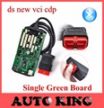 New VCI Green Single Board CDP with bluetooth nec relay Diagnostic Scanner Tool for cars trucks TCS CDP Pro 2015 R1 /2014.R2