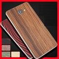 Simples para samsung a9 voltar vara/filme após filme de madeira de madeira real para samsung galaxy a9 a9000 case