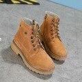 2016 nuevos zapatos otoño e invierno zapatos de cuero Mantener caliente con gruesas botas de Tobillo Martin botas de cuero esmerilado en Europa de arranque