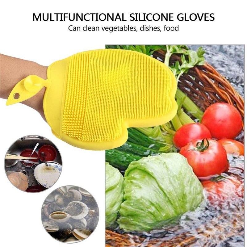 Волшебная силиконовая чаша для мытья посуды в форме яблока, перчатки для мытья посуды, щетка для мытья посуды, очиститель картофеля и морковки, кухонные аксессуары 35|Бытовые перчатки|   | АлиЭкспресс