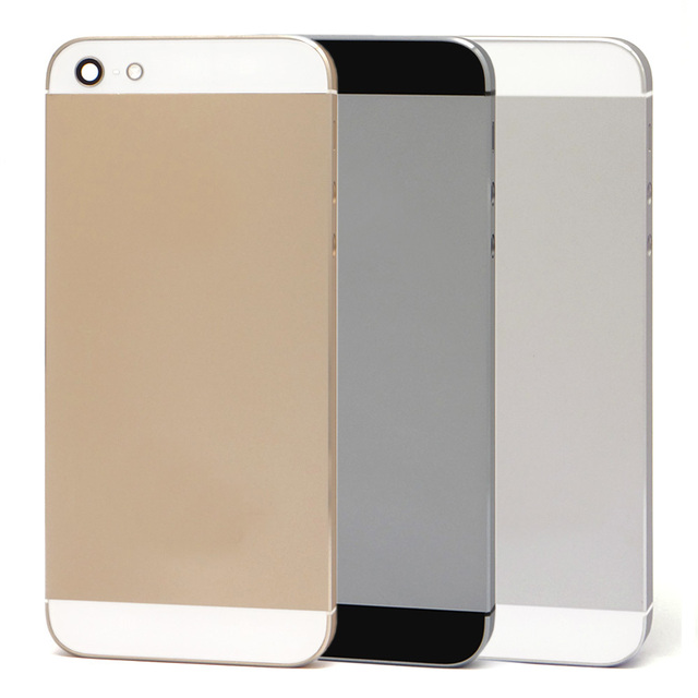 High Quality New Replacement Rear Back Battery Door For iPhone 5 5G back cover housing case with small parts with Logo Text