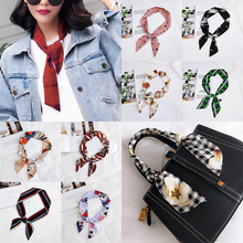 1pc Chiffon animal print scarfs for ladies long section  luxury designer fashionable high quality Bag accessories