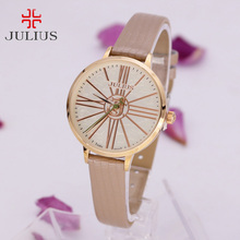 Julius Ladies's Watch Japan Quartz Hours High-quality Style Costume Bracelet Leather-based Easy Uncover Workplace Woman Woman Birthday Present Field