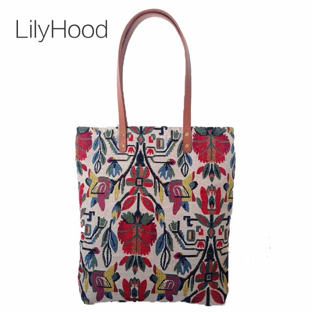 Lilyhood Handmade Women Tote Bags 2018 Retro Aztec Tribal Chic Bohemian Hippie Gypsy Boho Morocco Carpet