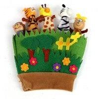 I bambini Del Fumetto Dito Della Mano Burattini Bambole Animali Guanti Giocattoli Per I Bambini di Età Materna Dicono Storys Props VENDITA CALDA