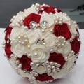 Индивидуальные Многие Стиль Chooseable Шелковый Свадебный Букет Стежка Свадебные Букеты Элегантный Перл Невеста Невесты Искусственный Вырос W128