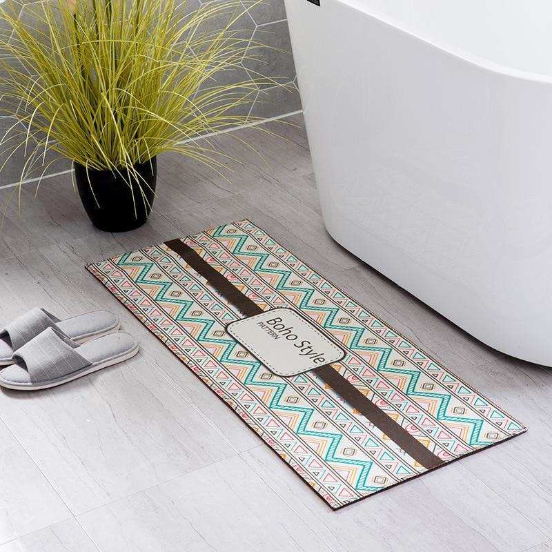 Zeegle Boho Style Doormats Outdoor Anti-slip Mat For Hallway Sofa Table Floor Mats Bedroom Carpets Bedside Mats Soft Kitchen Rug