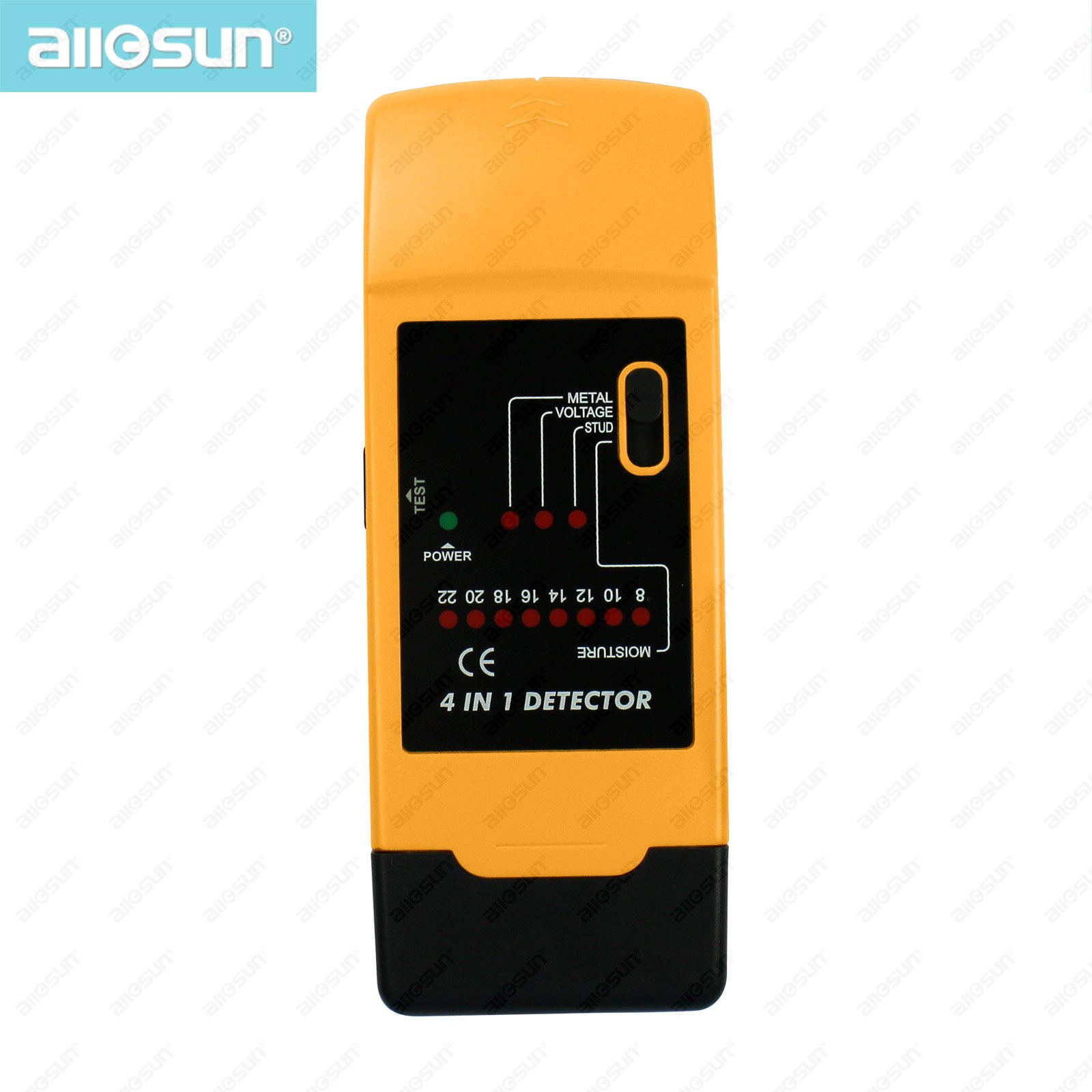 all-sun TS69 4 in 1 AC wires moisture detector bamboo/wood 90-250V at 50-60HZ STUD/METAL Mode moisture tester analyzer 8%-22%