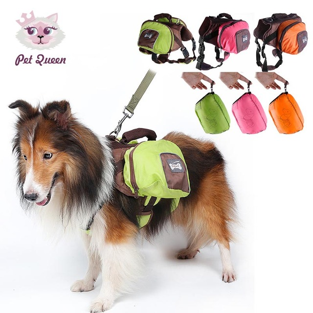 Foldable Outdoor Dog Saddle Backpack Bag Pet Cat Carrying Bags Medium And Large Pack