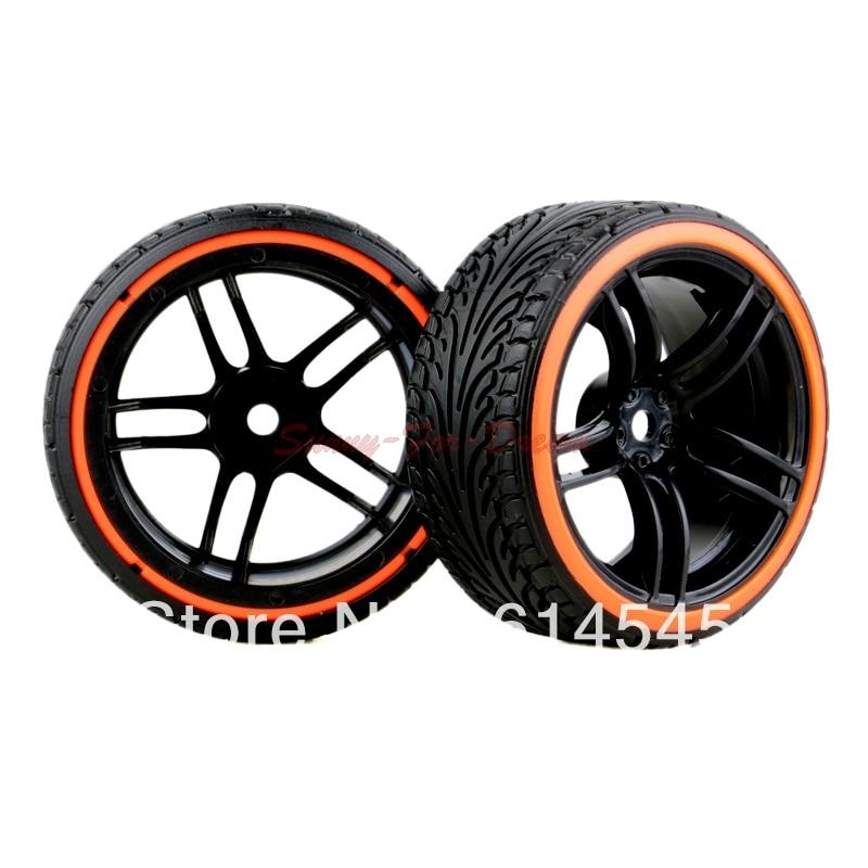 4PCS RC Car 1:10 On-Road Drift Wheel Rims & Tyre Tires Fit HSP HPI 9065-5017 austar 4pcs wheel tires rims inflate beadlock pneumatic tyre 3021rd for 1 10 rc car