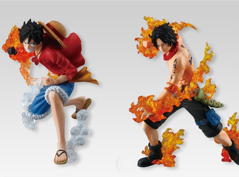 One Piece Three Brothers Monkey Luffy Sabo Ace Figures 10 13cm