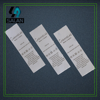 customized 2.5x10cm satin washing labels for garment custom clothing printed silk material care label fabric sewing tags