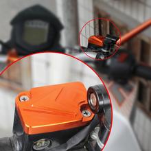 Motocykl Cnc przednie sprzęgło i osłona zbiornika płynu hamulcowego Cap Protector dla Ktm Duke125 Duke200 Duke390 Duke 200 125 390 2013-2015 tanie tanio treonk CN (pochodzenie) 3 8inch ktm-125 0 9inch 5 6inch CNC Aluminum 6061 Anodized triumph Obejmuje listew ozdobnych 100kg