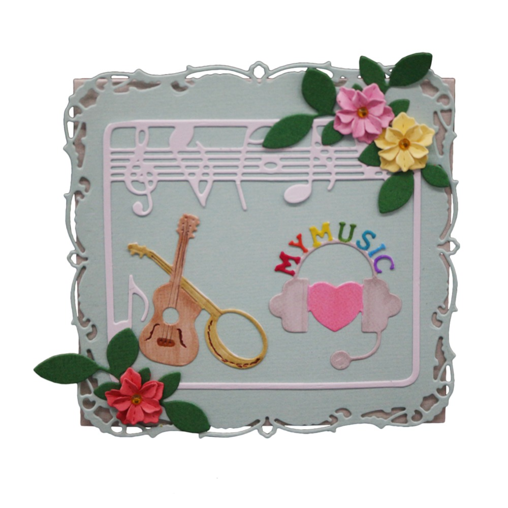 New Metal Steel Musical instrument score frame Cutting Die Stencil For DIY Scrapbooking Album Paper Card Photo Decorative Craft