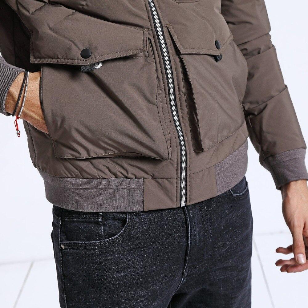 SIMWOOD invierno nueva Chaqueta corta de plumón de pato para hombre Slim Fit abrigos con capucha Parka Casual moda abrigo de alta calidad ropa masculina 180602-in Plumíferos from Ropa de hombre    3