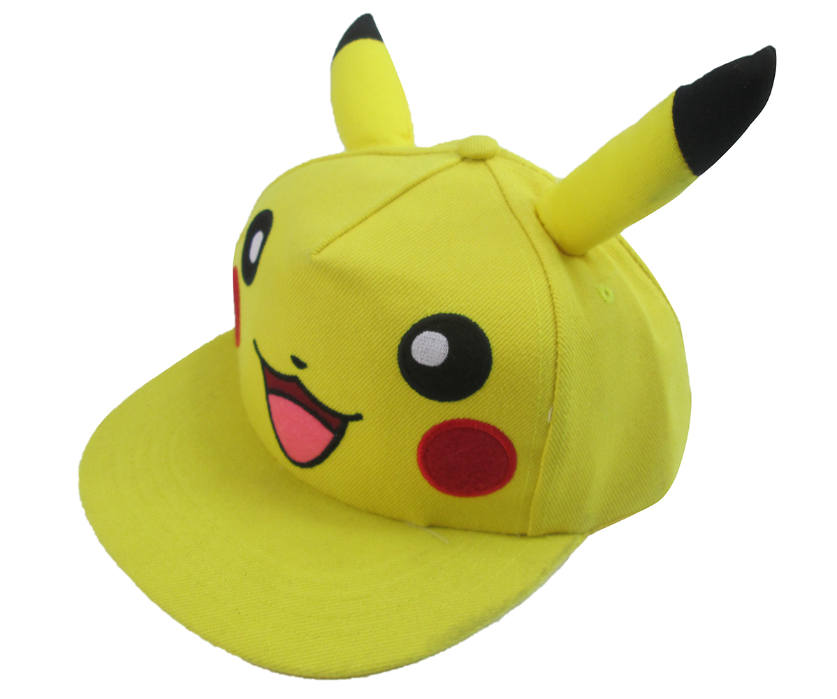 Brdwn Pikachu Cartoon Animation cute Eared Unisex Cosplay Baseball cap yellow Hat