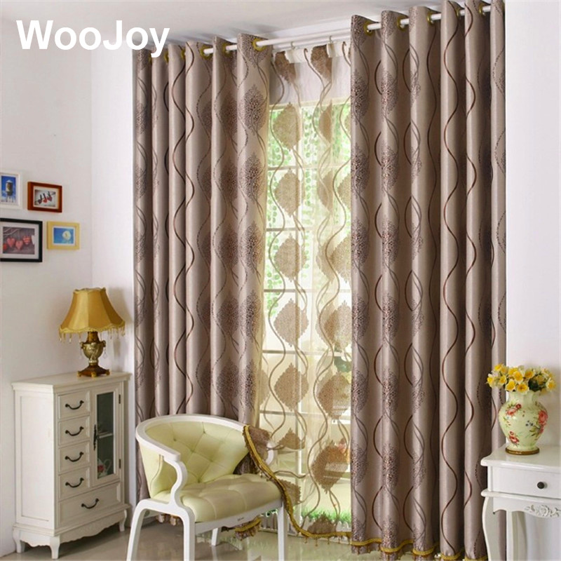 Double side Emboidery Blackout Curtains for Living Room ...
