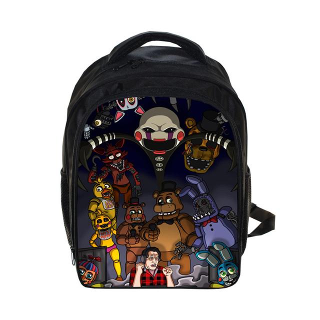 Five Nights At Freddys 13″ Printing Backpack Kindergarten Bag Chica Backpack FNAF Kids Bag Teenage Girls Children Bag