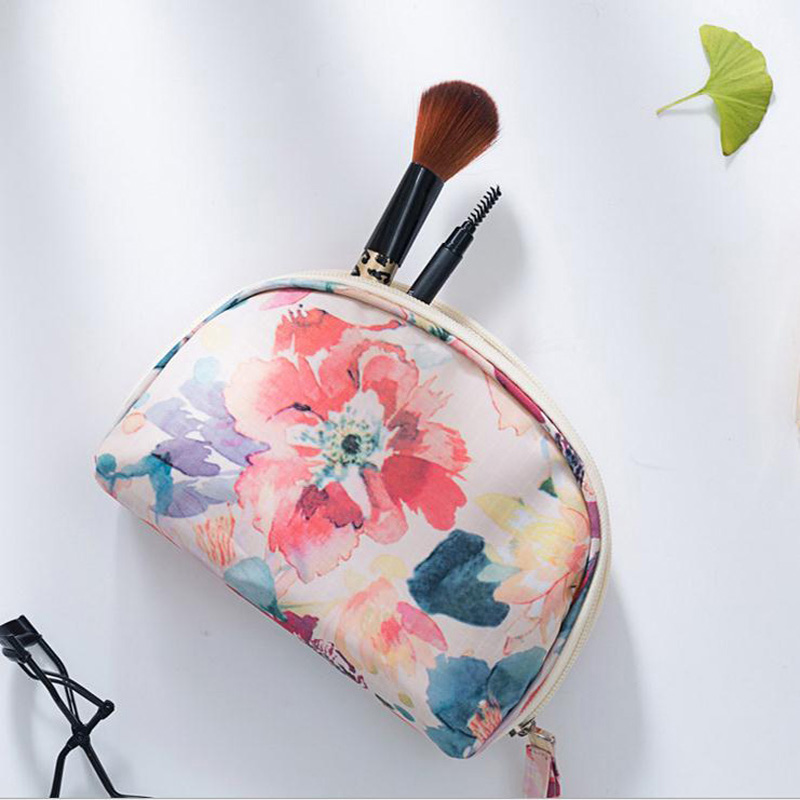 NIBESSER Floral Printing Cosmetic Bag Make Up Makeup Organizers Travel Storage Pouch Women Toiletry Toilet Bags High Quality