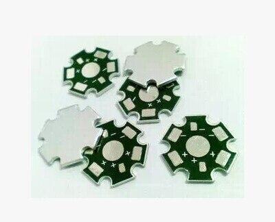 20pcs 1W 3W 5W High Power LED Universal Aluminum Plate Heatsink Cooler