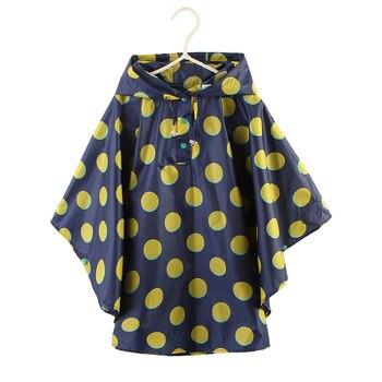 Freesmily niños colorido gran punto lluvia Poncho para niñas niños de 5 a 14 años