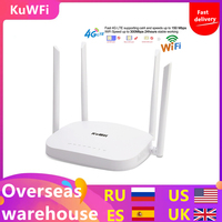KuWFi 4G LTE Wifi Router 300Mbps 3G/4G Wireless CPE Router with Sim Card Slot Support 4G to LAN With 4pcs Antenas up to 32users