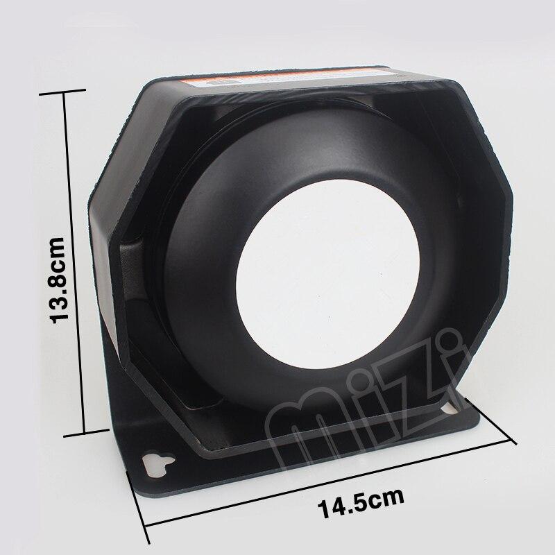 MZORANGE 200W haut-parleur ultra mince 120-130dB pour sirène de voiture matériel néodyme 6ohm klaxon amplificateur d'alarme de voiture facile à installer