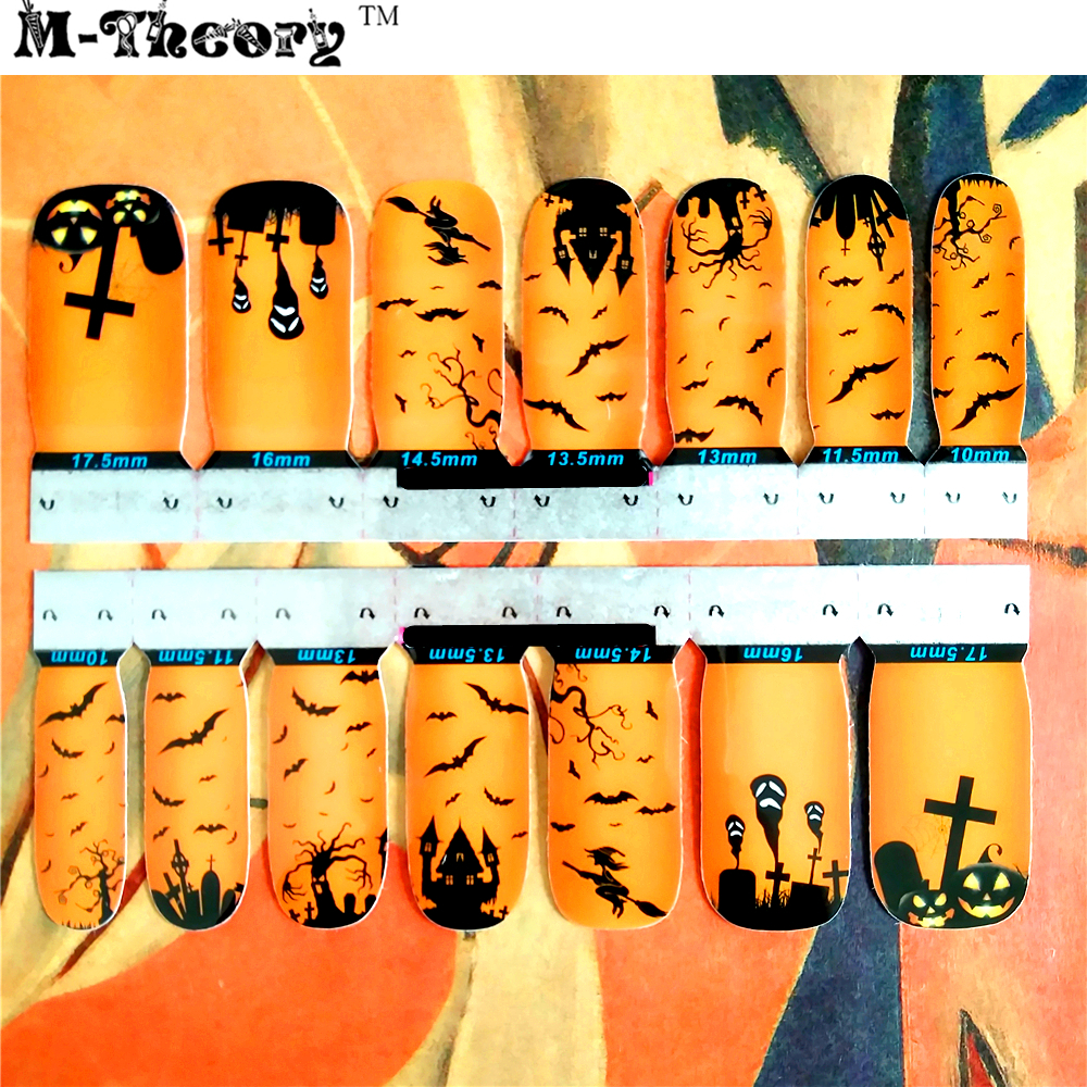 M-theory Adhesive Nails Wraps Stickers 3D Halloween Nail Arts Polish Gel varnish Decals Sticker Decorations Makeup Tools advances in graph theory 3