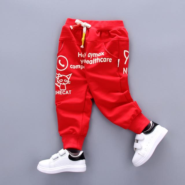 2017 Nueva Primavera Otoño Bebé Pantalones Harem Pantalones Casual Patrón de la Historieta de Los Bebés Recién Nacidos de Alta Calidad Pantalones de Bebé Infantiles