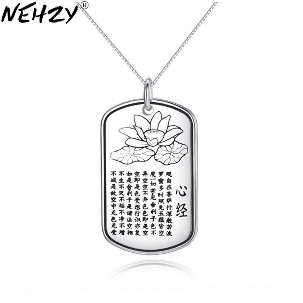 NEHZY 925 sterling silver new woman Retro fashion brand amulet Buddha pendant female jewelry heart necklace pendants 45CM