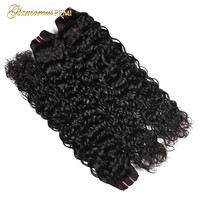 Peruvian Water Wave Remy Hair Extension 100% Human Hair Weave Bundles 1pcs/3pcs/4pcs Natural Color 1b Can Be Dyed Free Shipping
